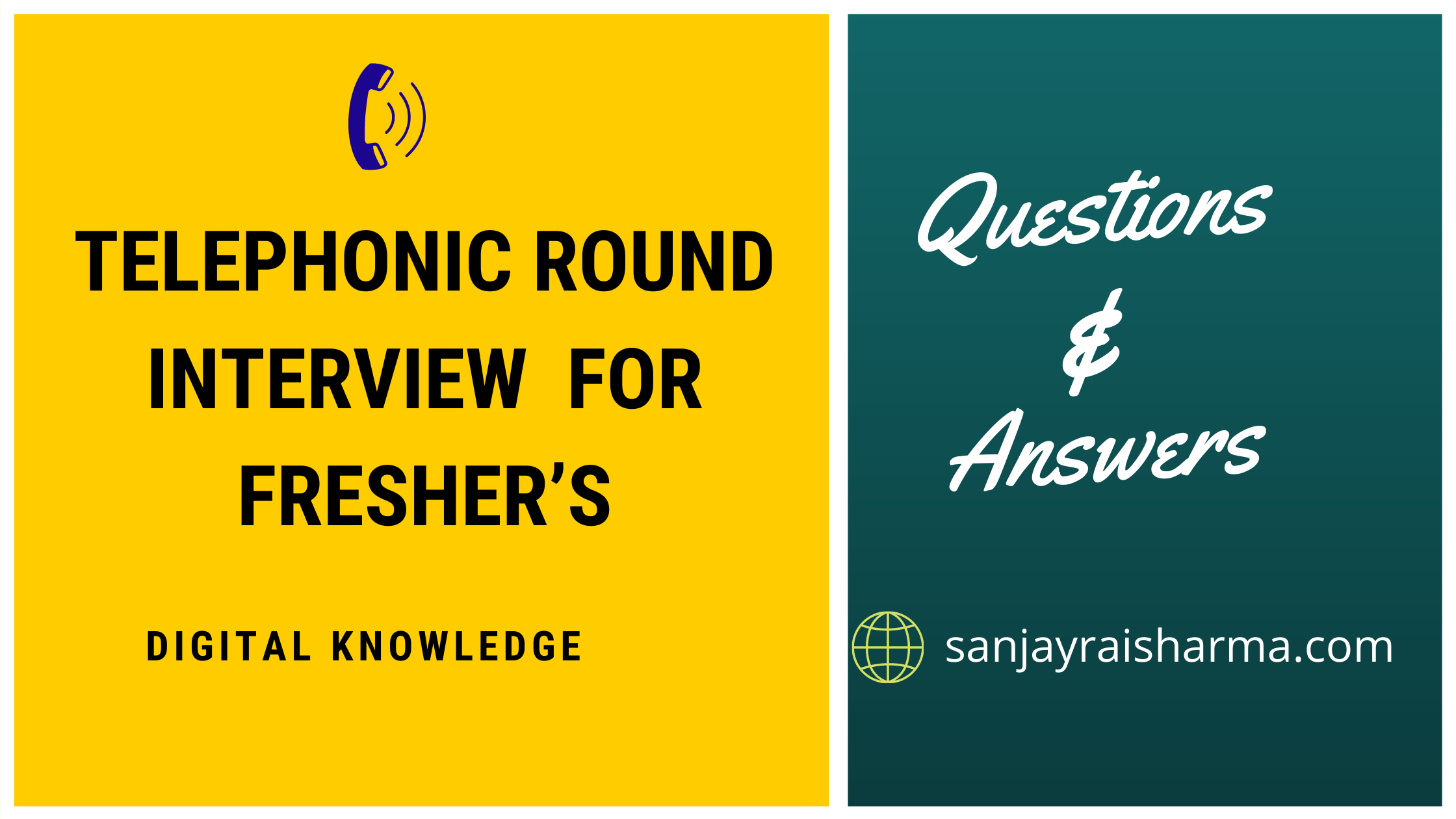 Telephonic round interview questions and answers for fresher's